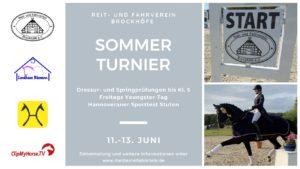 Titelbild Sommerturnier Brockhöfe 11. -13. Juni 2021